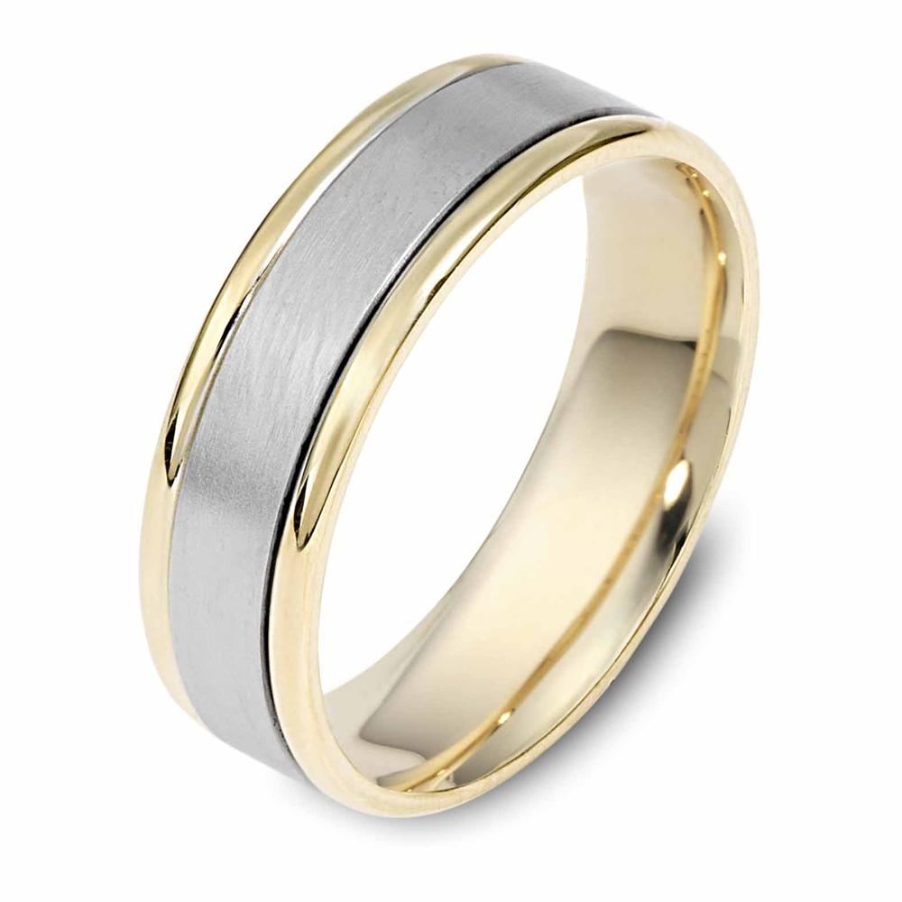 Dora Dualtone Striped Mens Wedding Band Greenwich Jewelers Intended For Silver And Gold Mens Wedding Bands (View 8 of 15)