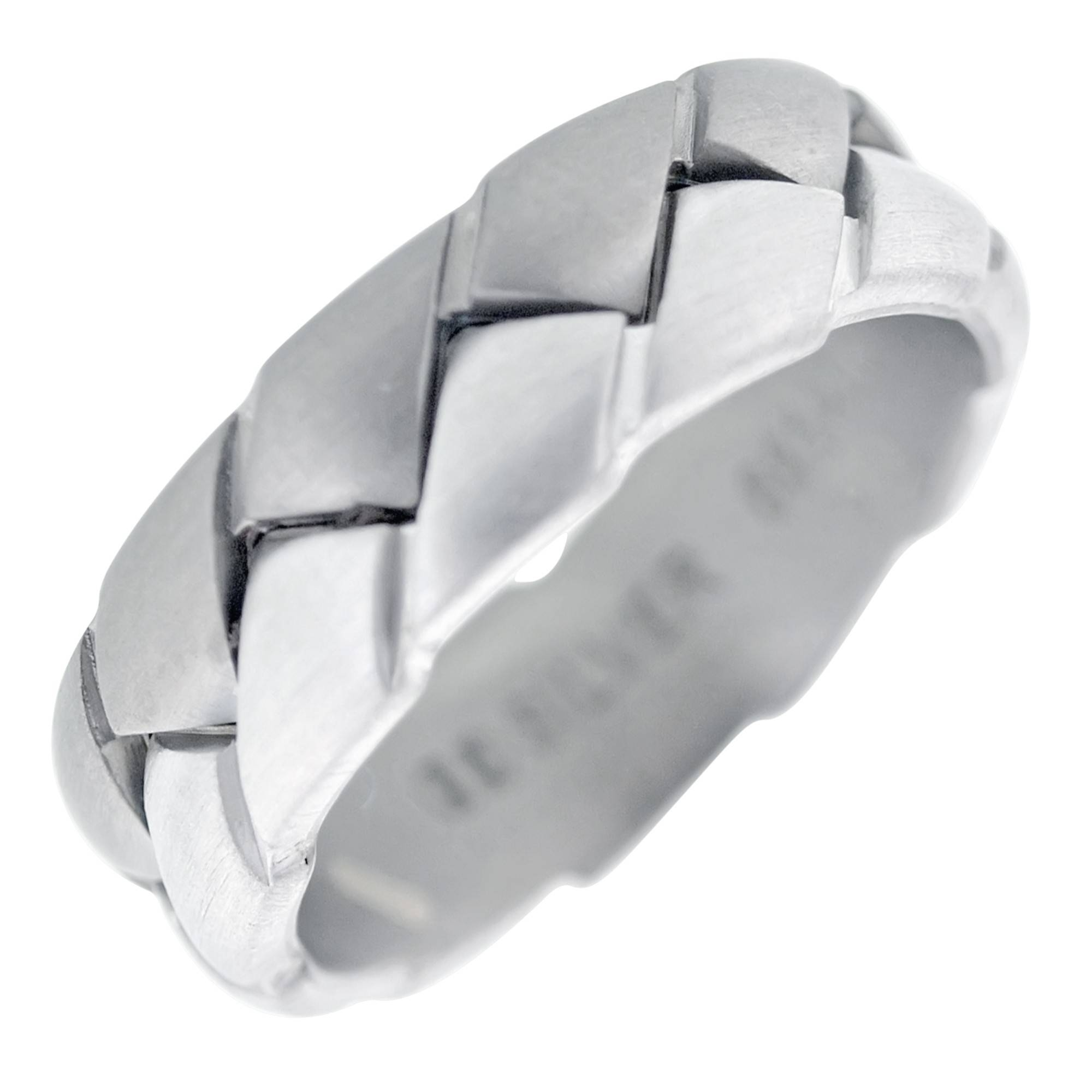 Dora Mens Braided Wedding Band In Titanium And 14kt White Gold (7mm) For Braided Wedding Bands (View 13 of 15)