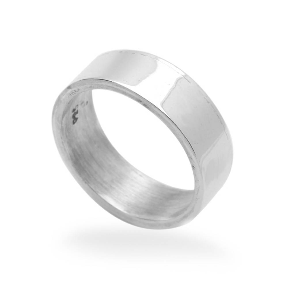 Double Accent | 6Mm Sterling Silver Wedding Band Classic Plain For Mens Sterling Silver Wedding Bands (Gallery 15 of 15)