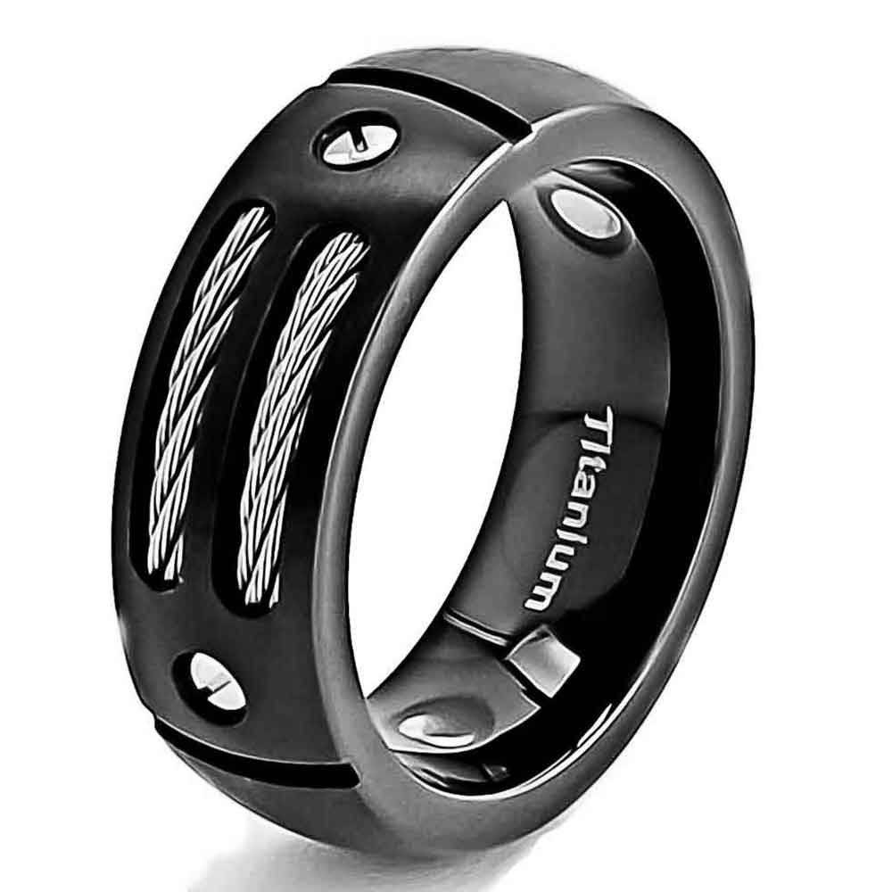 Download Mens Black Titanium Wedding Rings | Wedding Corners Throughout Titanium Men Wedding Rings (Gallery 1 of 15)