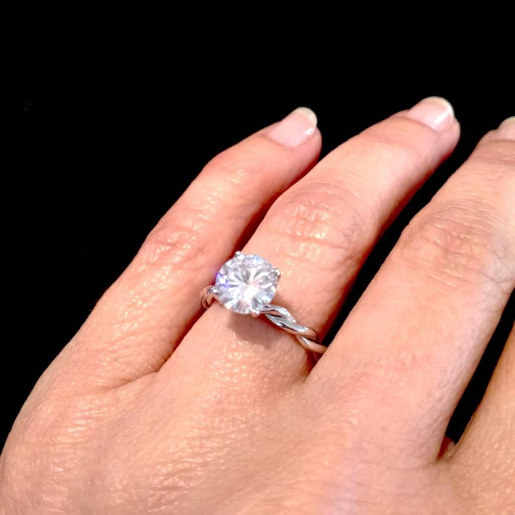 Download Twisted Engagement Ring With Wedding Band | Wedding Corners Intended For Most Recent Engagement Rings And Wedding Bands In One (Gallery 12 of 15)