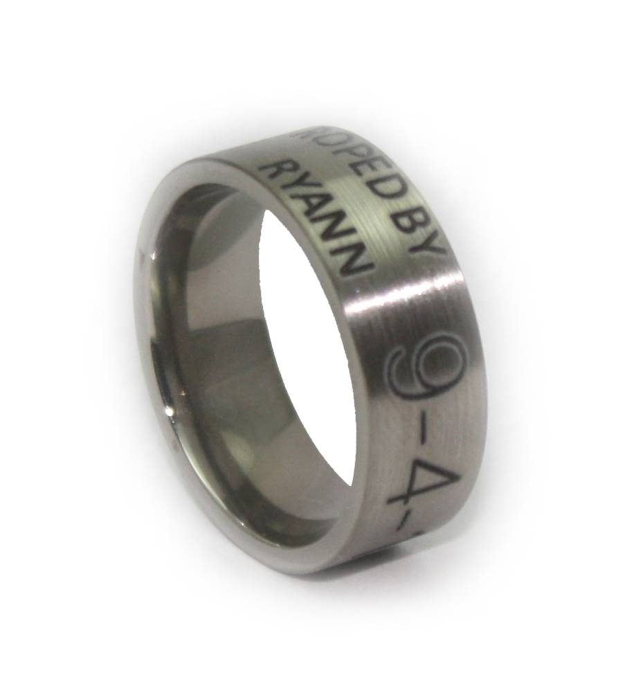 Duck Band – Custom Laser Engraved Wedding Ring Within Custom Camo Wedding Rings (View 6 of 15)