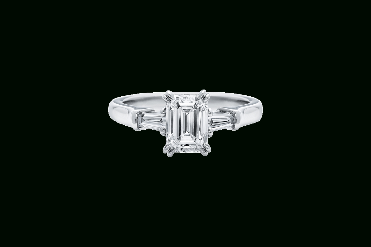 Emerald Cut Diamond Engagement Ring | Harry Winston With Regard To Emerald Cut Engagement Rings Baguettes (View 8 of 15)