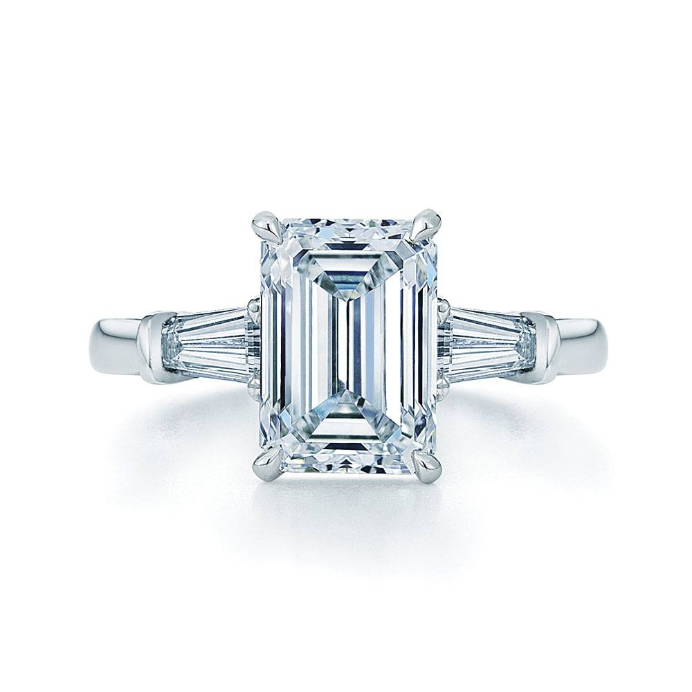Emerald Cut Diamond Engagement Ring! – Weddingbee | Page 2 Intended For Emerald Cut Engagement Rings Baguettes (Gallery 1 of 15)