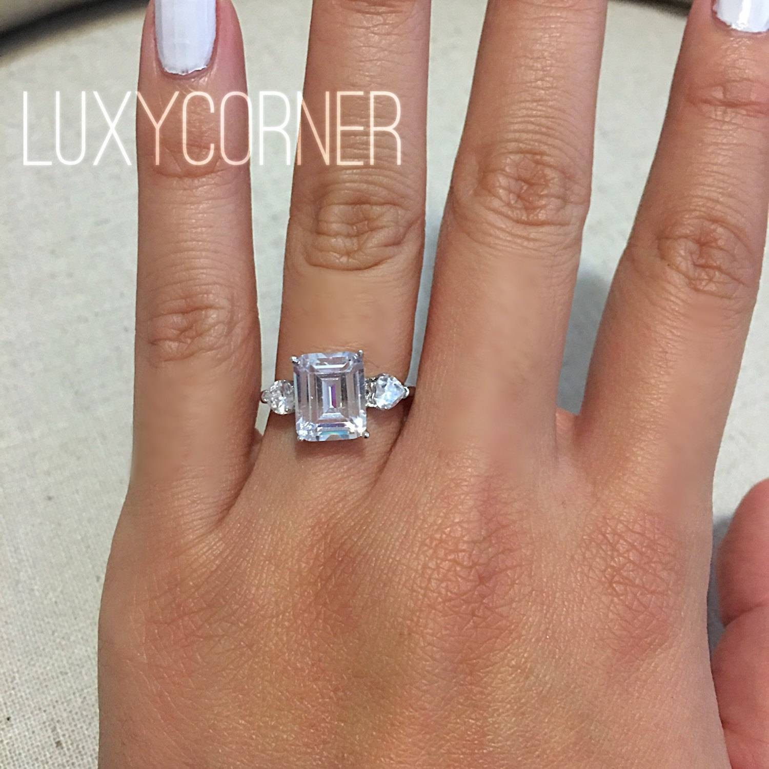 contemporary diamond center rings engagement platinum i round gia carat certified sidestones ring si solitaire ct in