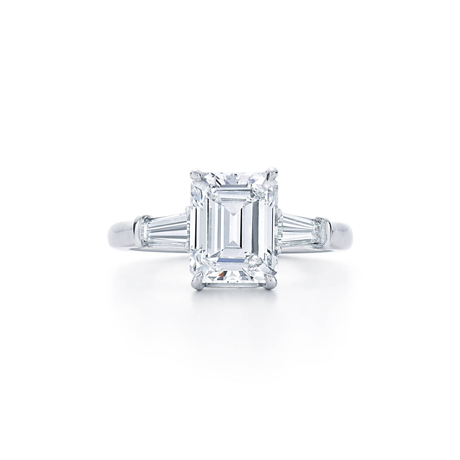 Engagement Rings : Antique Vintage Engagement Rings Stunning Throughout Emerald Cut Engagement Rings Baguettes (View 9 of 15)