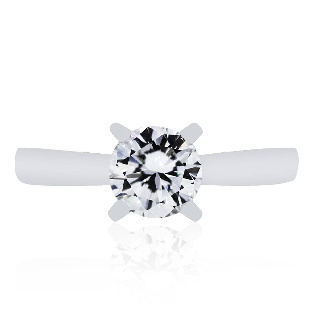 Engagement Rings Boca Raton 18K White Gold  (View 5 of 15)