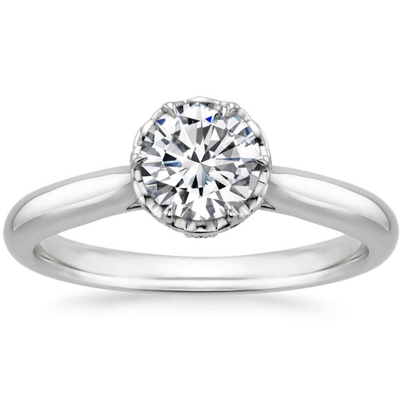 Engagement Rings: Conflict Free Diamond Engagement Rings; Dainty Throughout 5 Diamond Engagement Rings (Gallery 12 of 15)