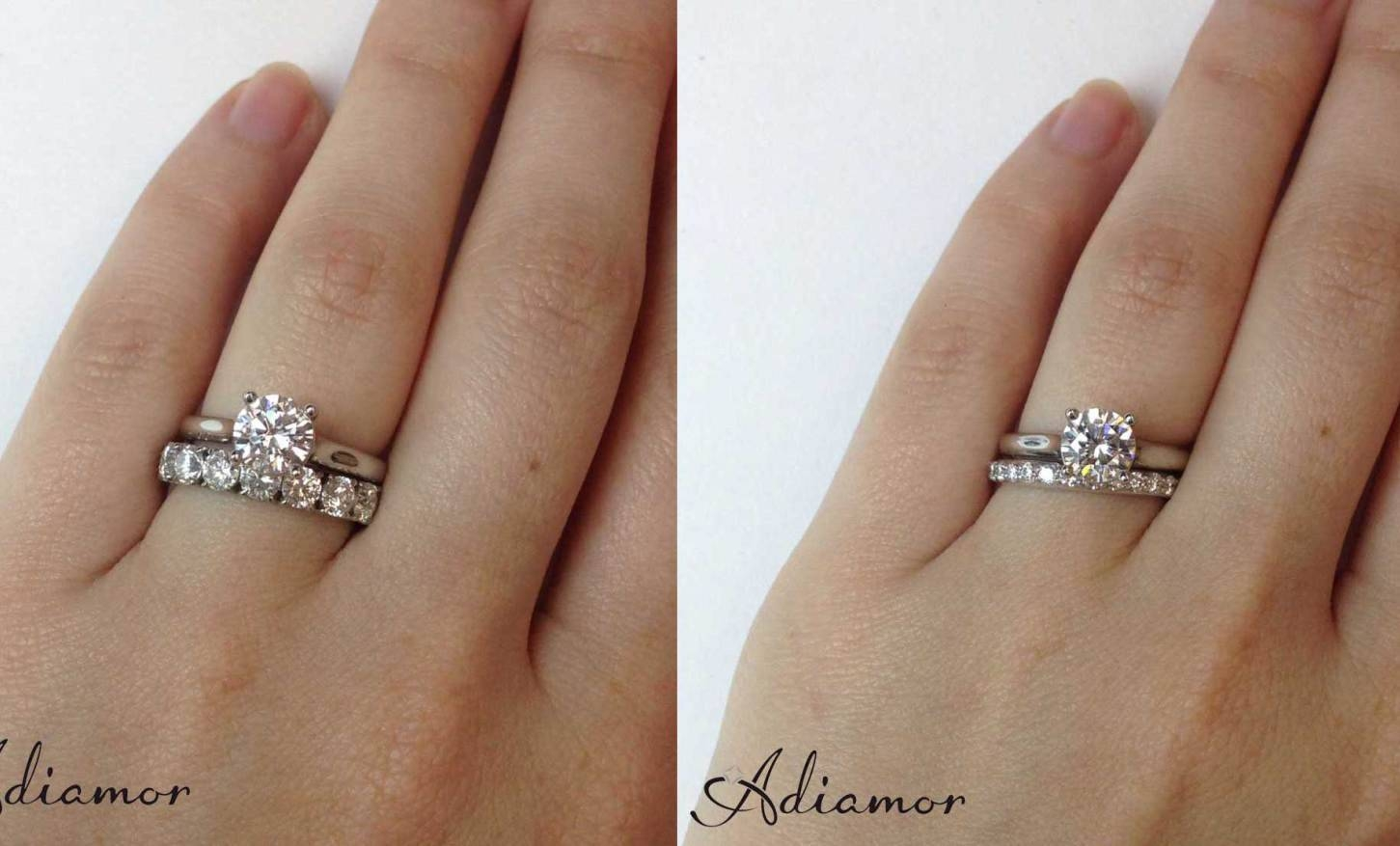 Photo Gallery of Best Wedding Bands For Halo Engagement Rings