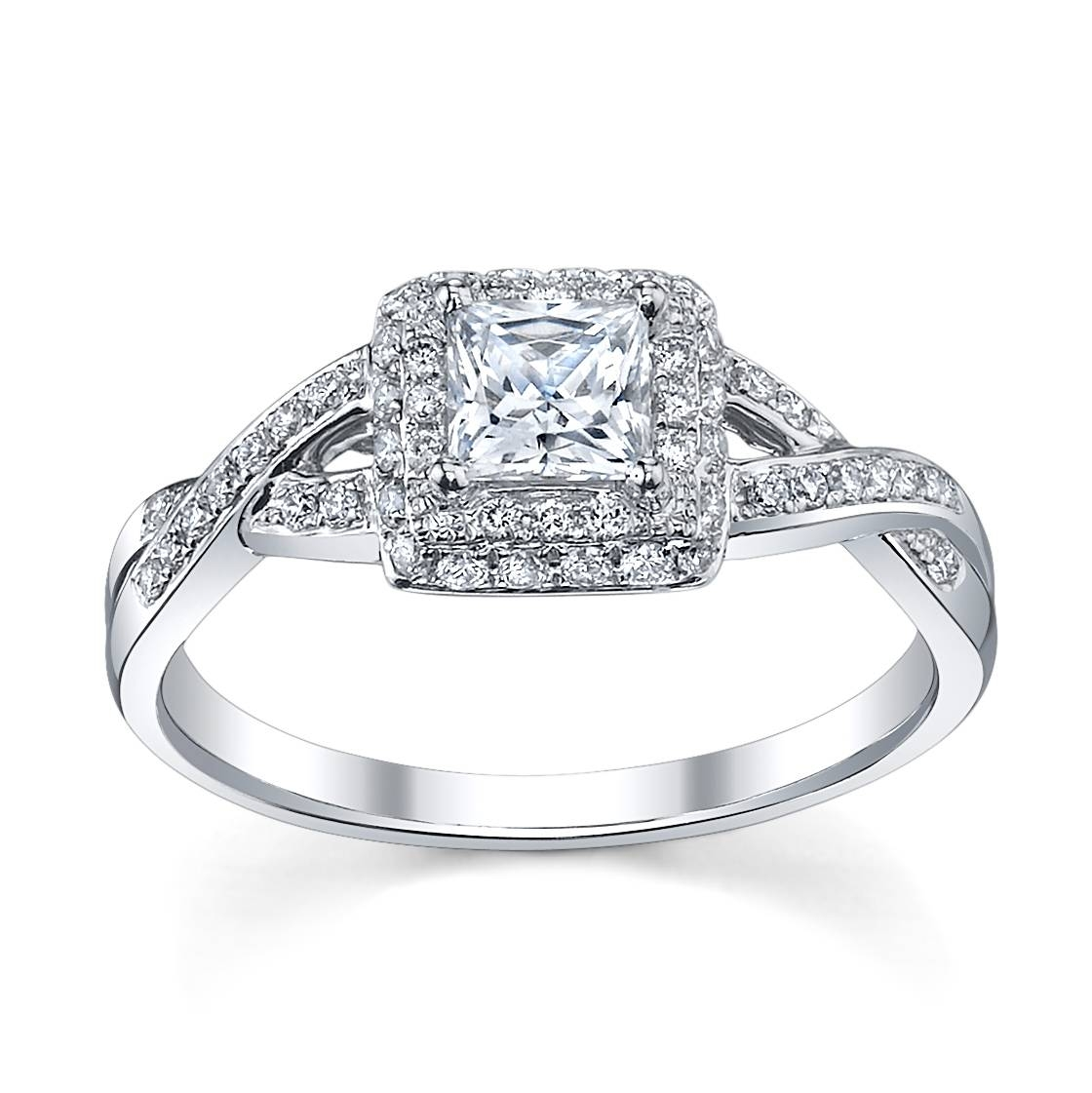 Engagement Rings : Wedding Rings Princess Cut White Gold Awesome With 2018 Princess Cut Engagement Rings And Wedding Bands (View 8 of 15)