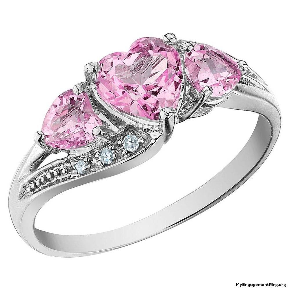 Engagement & Wedding Rings Within Newest Pink And Diamond Wedding Bands (Gallery 3 of 15)