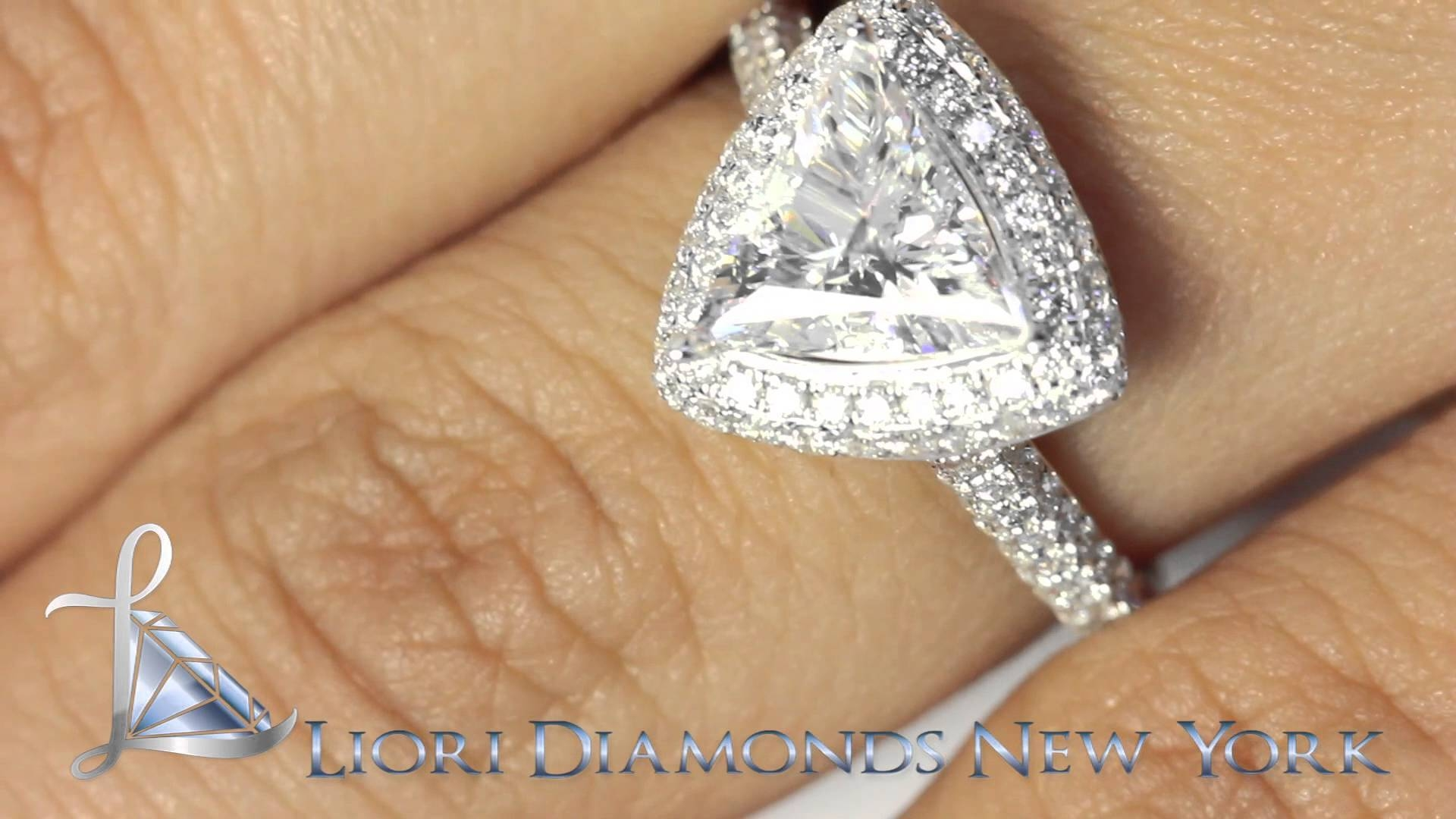 Er Sold 145 – 2.05 Carat D Vs1 Trillion Cut Diamond Engagement In Triangle Cut Diamond Engagement Rings (Gallery 12 of 15)
