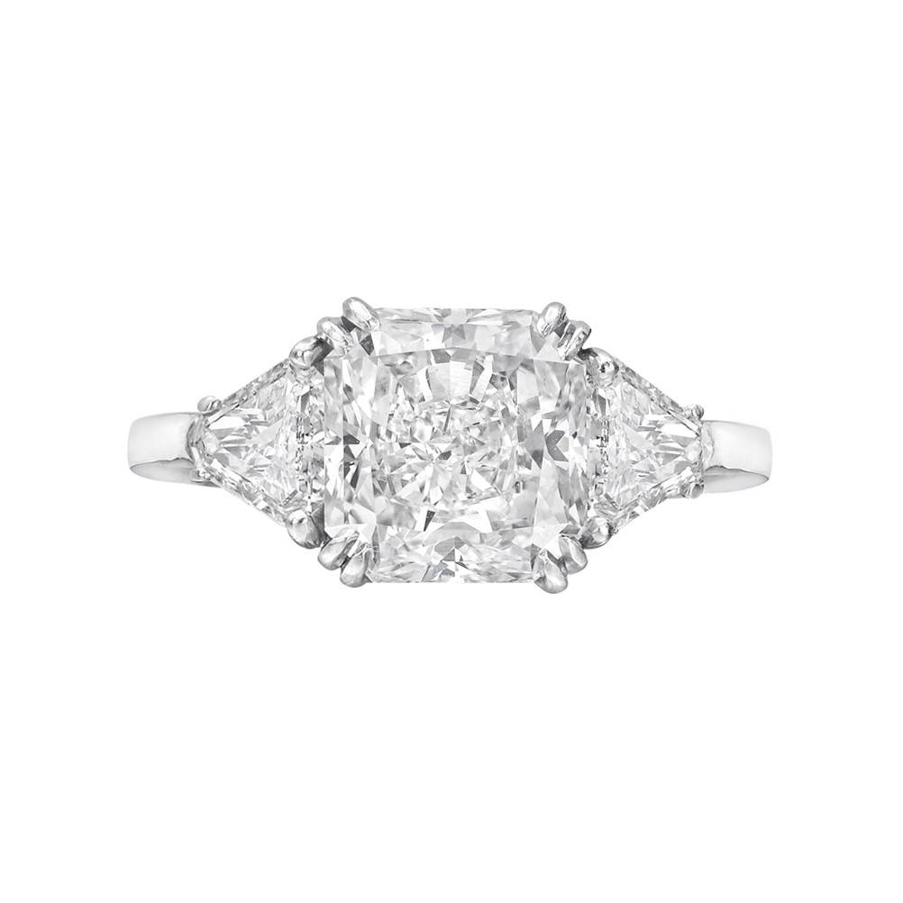 Estate 3.76 Carat Radiant Cut Diamond Engagement Ring | Betteridge Within Rectangular Radiant Cut Diamond Engagement Rings (Gallery 15 of 15)