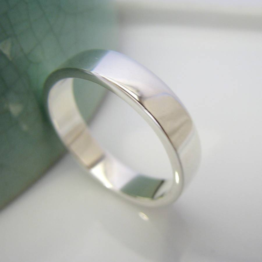 Evermore Wedding Band White Gold Over Sterling Silver For Most Up To Date Rhodium Wedding Bands (Gallery 3 of 15)