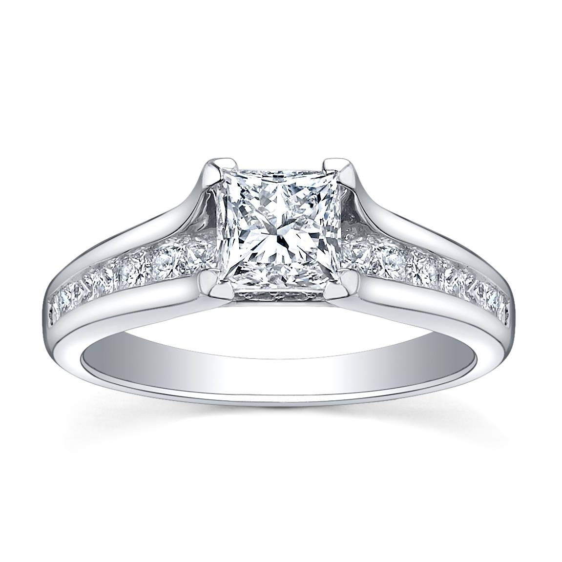 Fallers Wedding Jewellery 18K White Gold Diamond Engagement Ring In White Gold And Diamond Engagement Rings (Gallery 2 of 15)