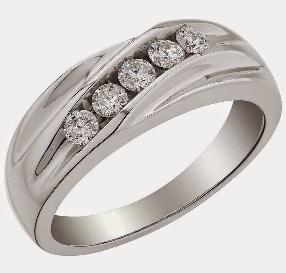 Fancy Silver Mens Wedding Rings Uk 5 Diamond Design Pertaining To Best And Newest Mens 5 Diamond Wedding Bands (View 7 of 15)