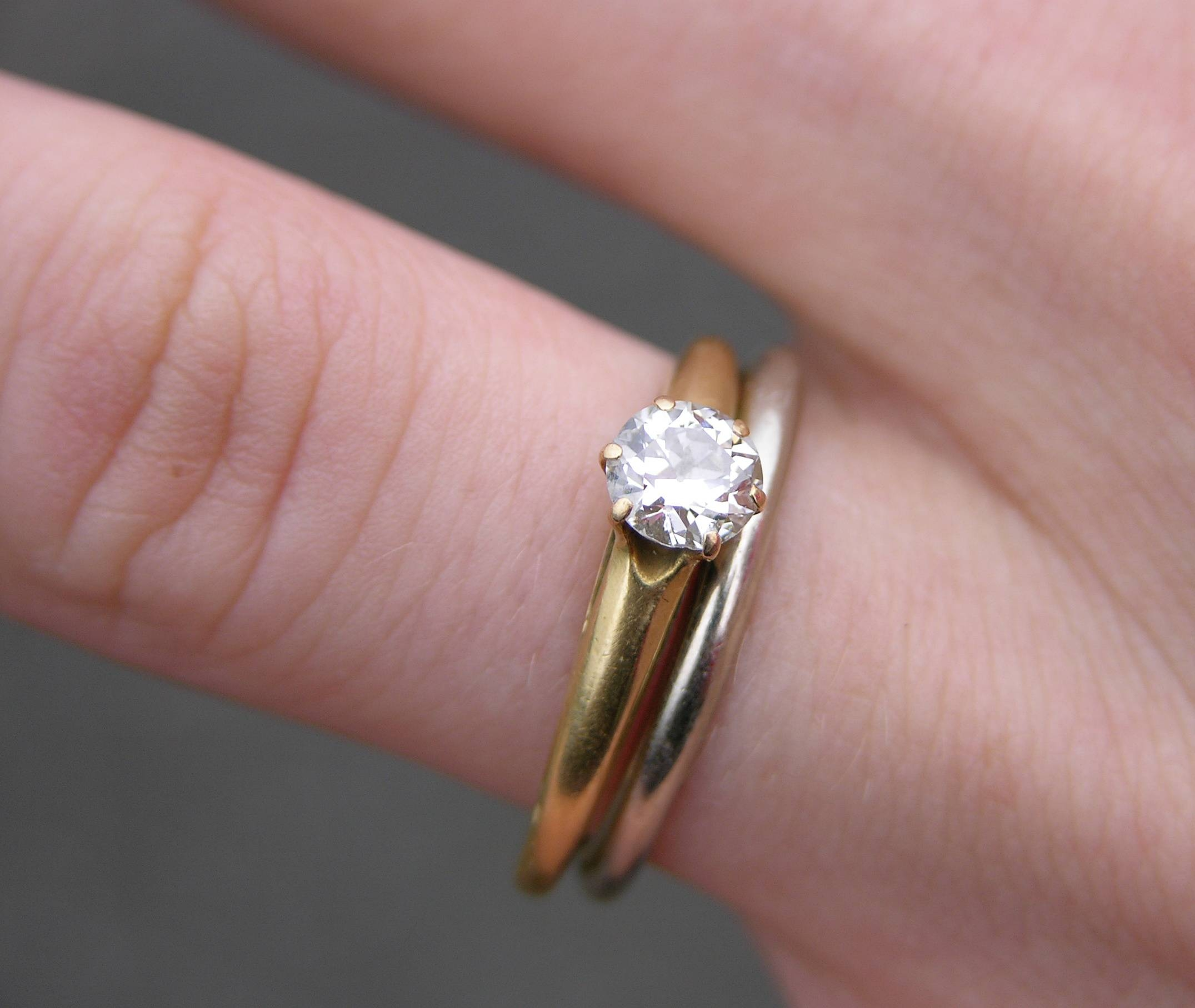 File:wedding And Engagement Rings 2151px – Wikimedia Commons In Gold Wedding Band With Silver Engagement Ring (View 4 of 15)
