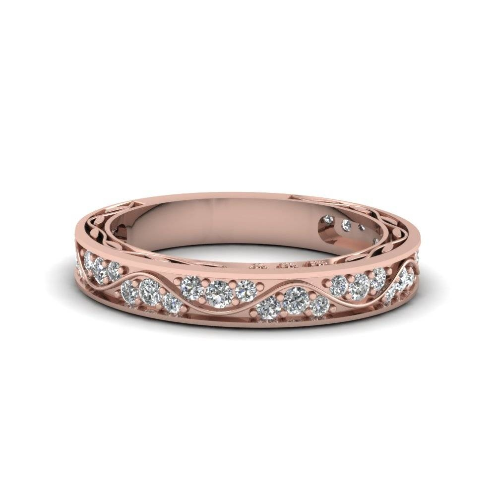 Find Affordable 18K Rose Gold Wedding Rings For Women| Fascinating Pertaining To Rose Gold Womens Wedding Bands (View 6 of 15)