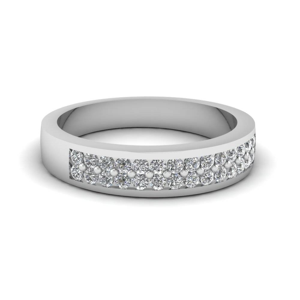 Find Affordable Platinum Wedding Rings For Women|Fascinating Diamonds Pertaining To Women's Platinum Wedding Bands (View 4 of 15)