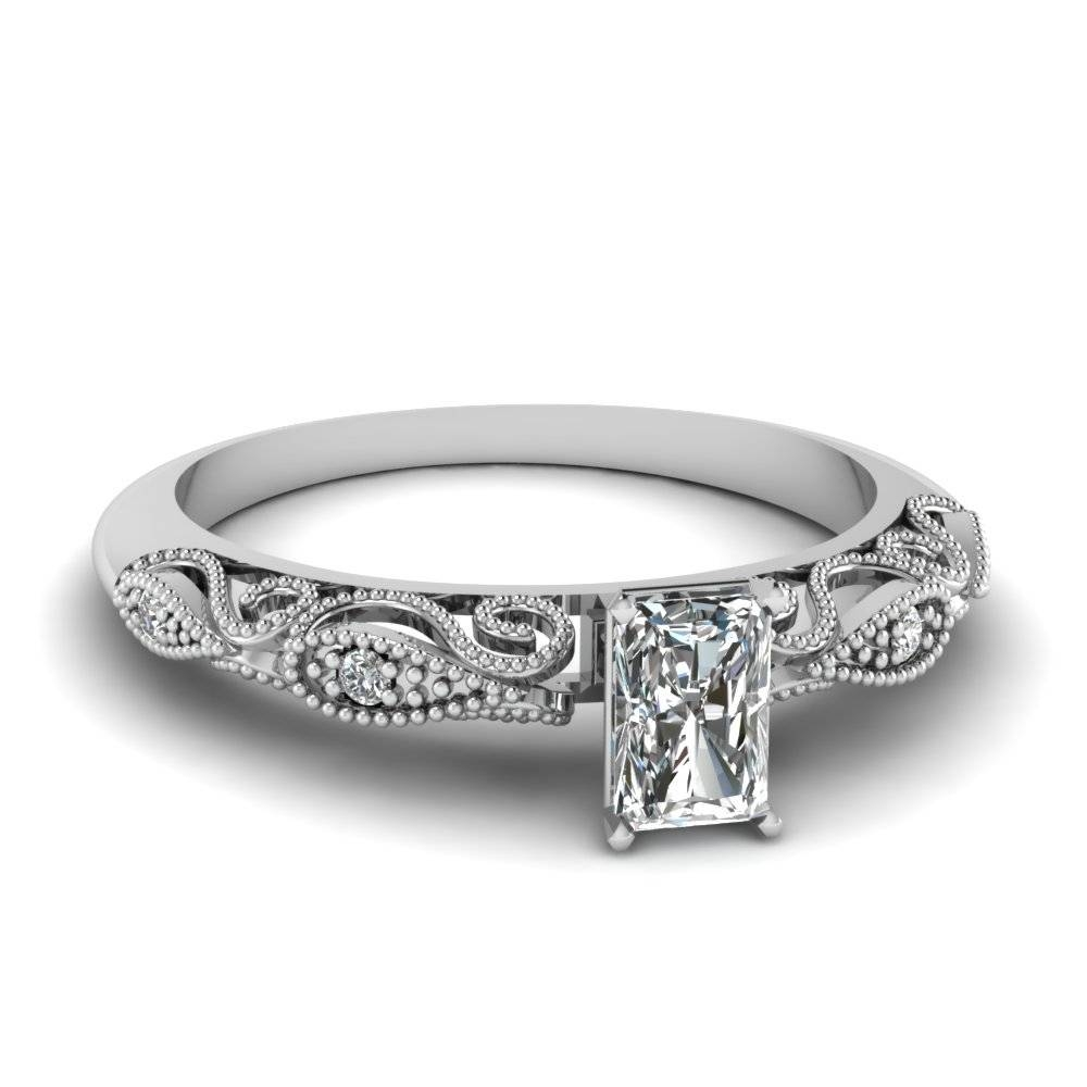 Find Perfect Radiant Cut Engagement Rings |fascinating Diamonds Throughout Radiant Cut Engagement Ring Settings (View 15 of 15)