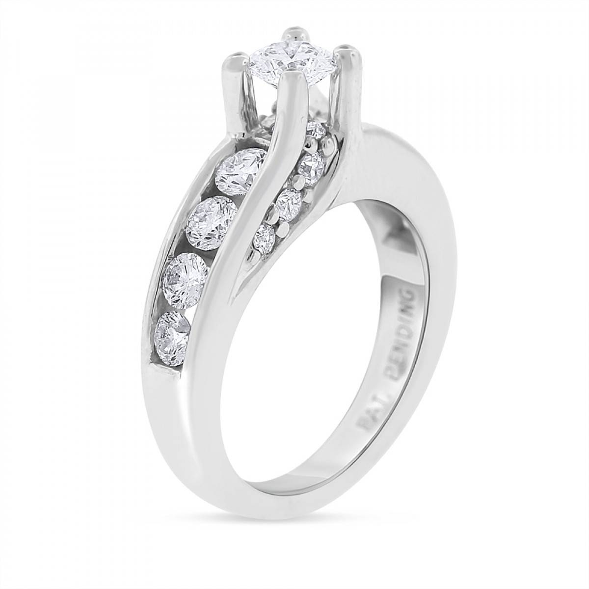 Floating Diamond Engagement Ring Titanium – Floating Diamond Throughout Floating Diamond Engagement Rings (View 11 of 15)