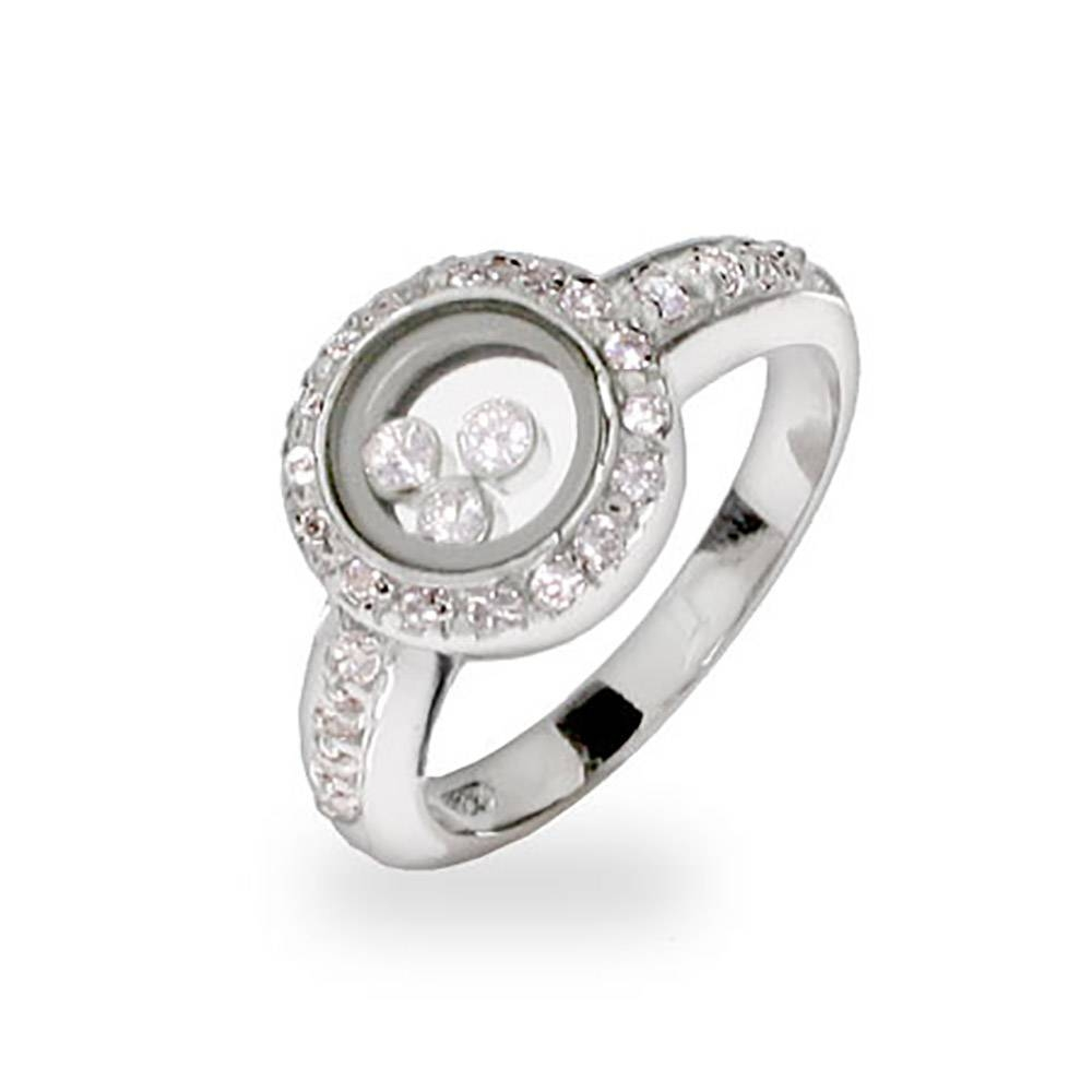Floating Halo Diamond Engagement Ring | Eve's Addiction® Regarding Floating Diamond Engagement Rings (View 9 of 15)