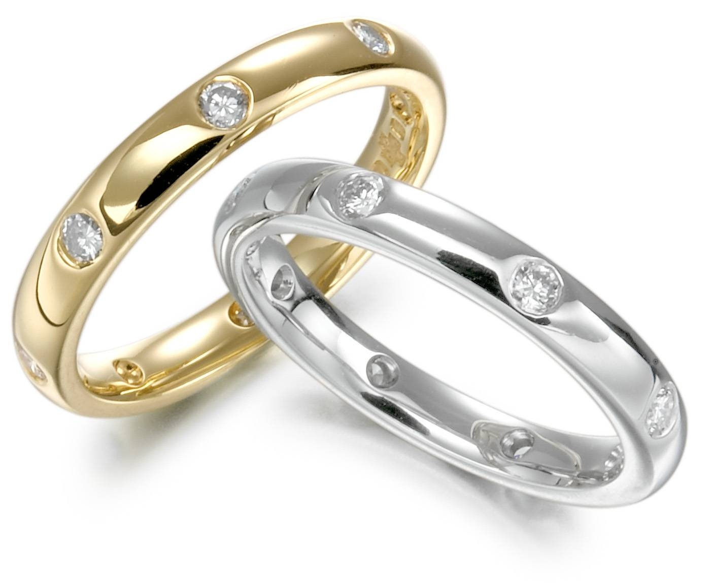 Flush Set Diamond Band – Page Fine Jewellery In Flush Setting Engagement Rings (Gallery 9 of 15)