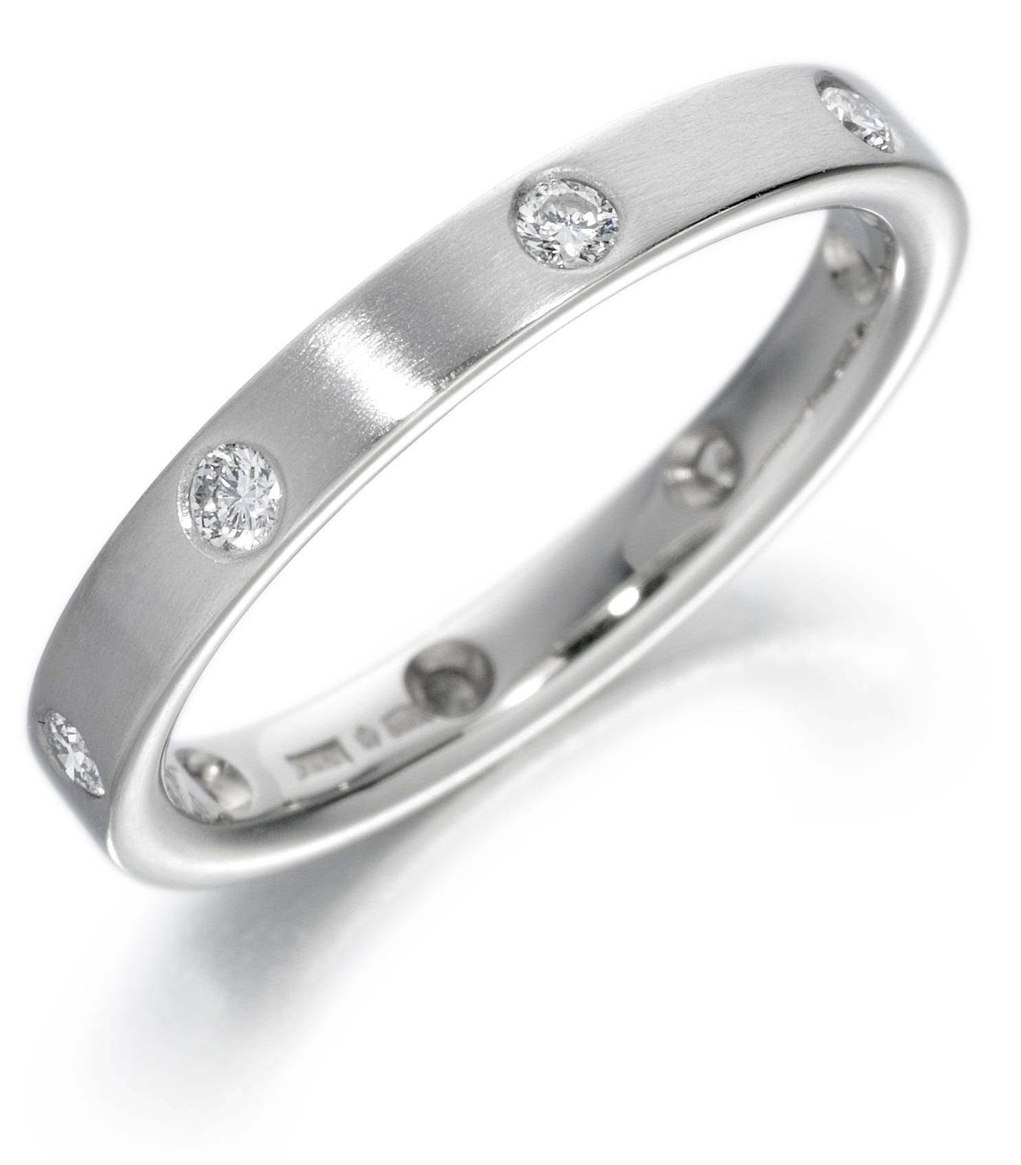 Flush Set Diamond Flat Court Wedding Ring – Page Fine Jewellery For Flush Setting Engagement Rings (Gallery 2 of 15)