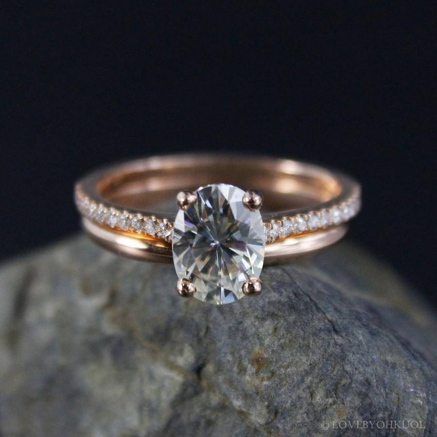 Forever Brilliant Oval Solitaire Engagement Ring – Wedding Set In Solitaire Rings With Wedding Band (Gallery 15 of 15)