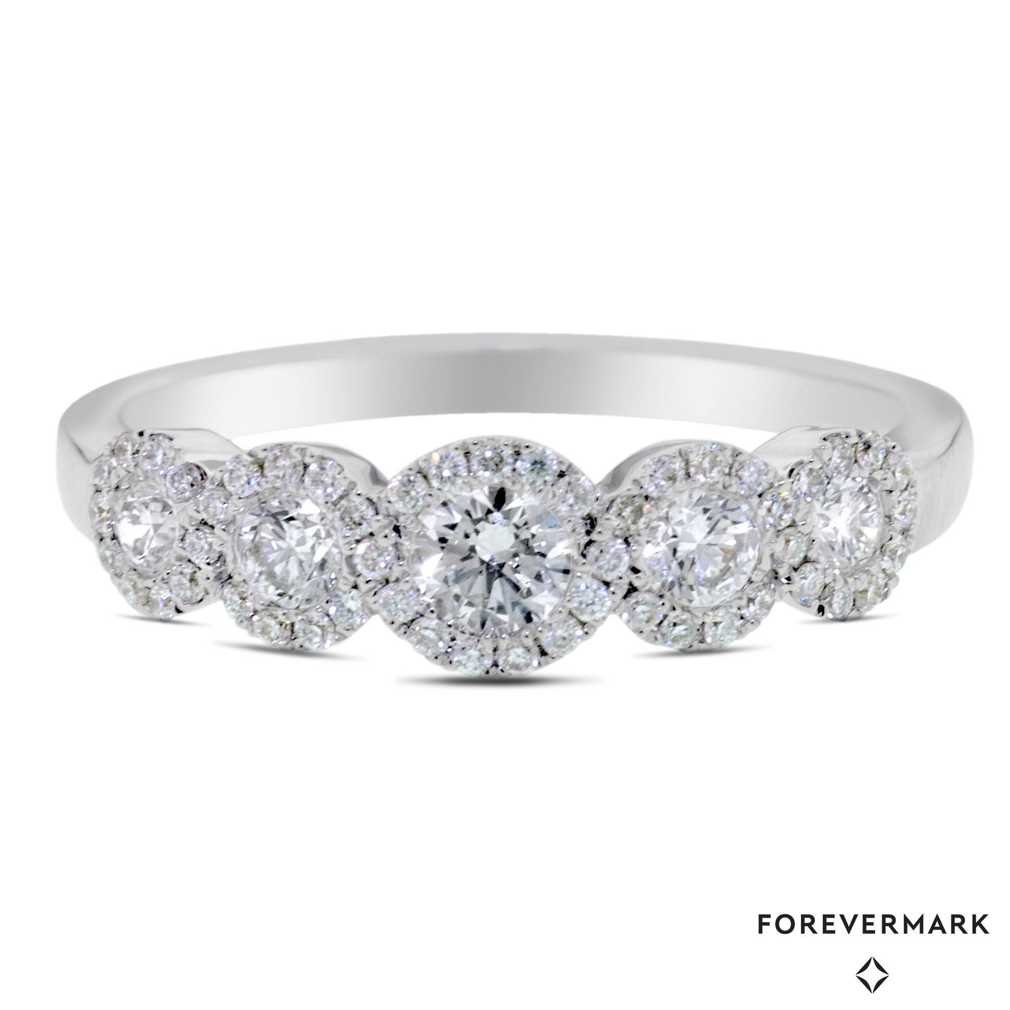 Forevermark Center Of My Universe Diamond Halo Wedding Band In Pertaining To Halo Wedding Bands (Gallery 3 of 15)