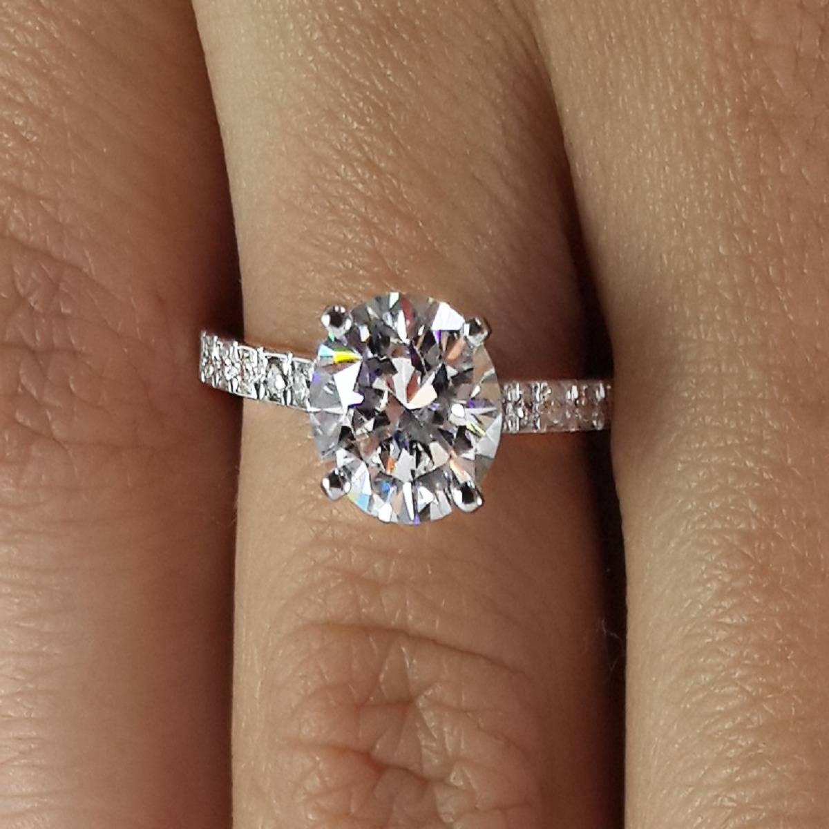 Free Diamond Rings. 2 Carat Round Diamond Ring: 2 Carat Round For 2.0 Carat Diamond Engagement Ring (Gallery 10 of 15)