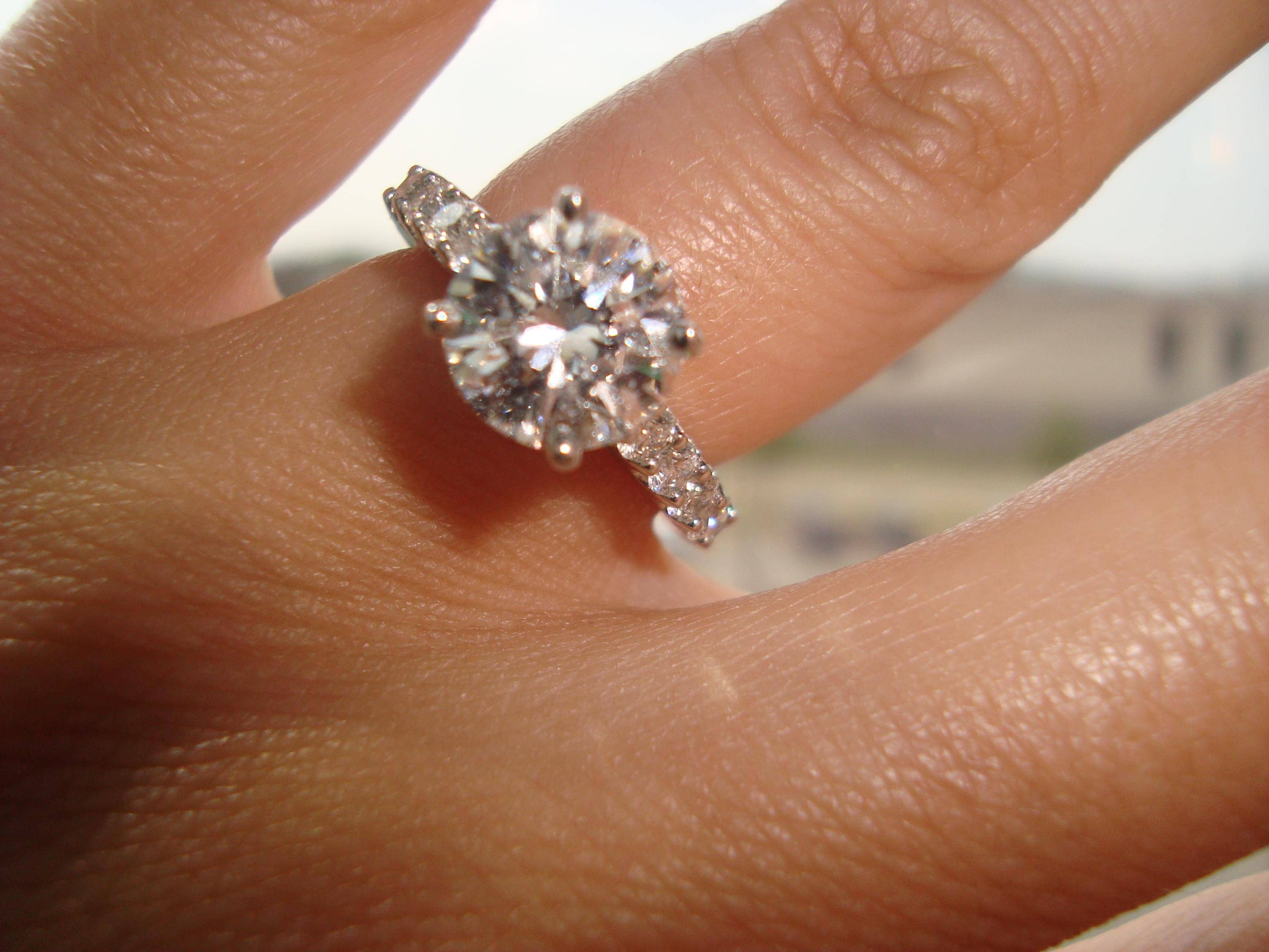 Free Diamond Rings. 2 Carat Single Diamond Ring: 2 Carat Single In 2 Ct Wedding Rings (Gallery 3 of 15)