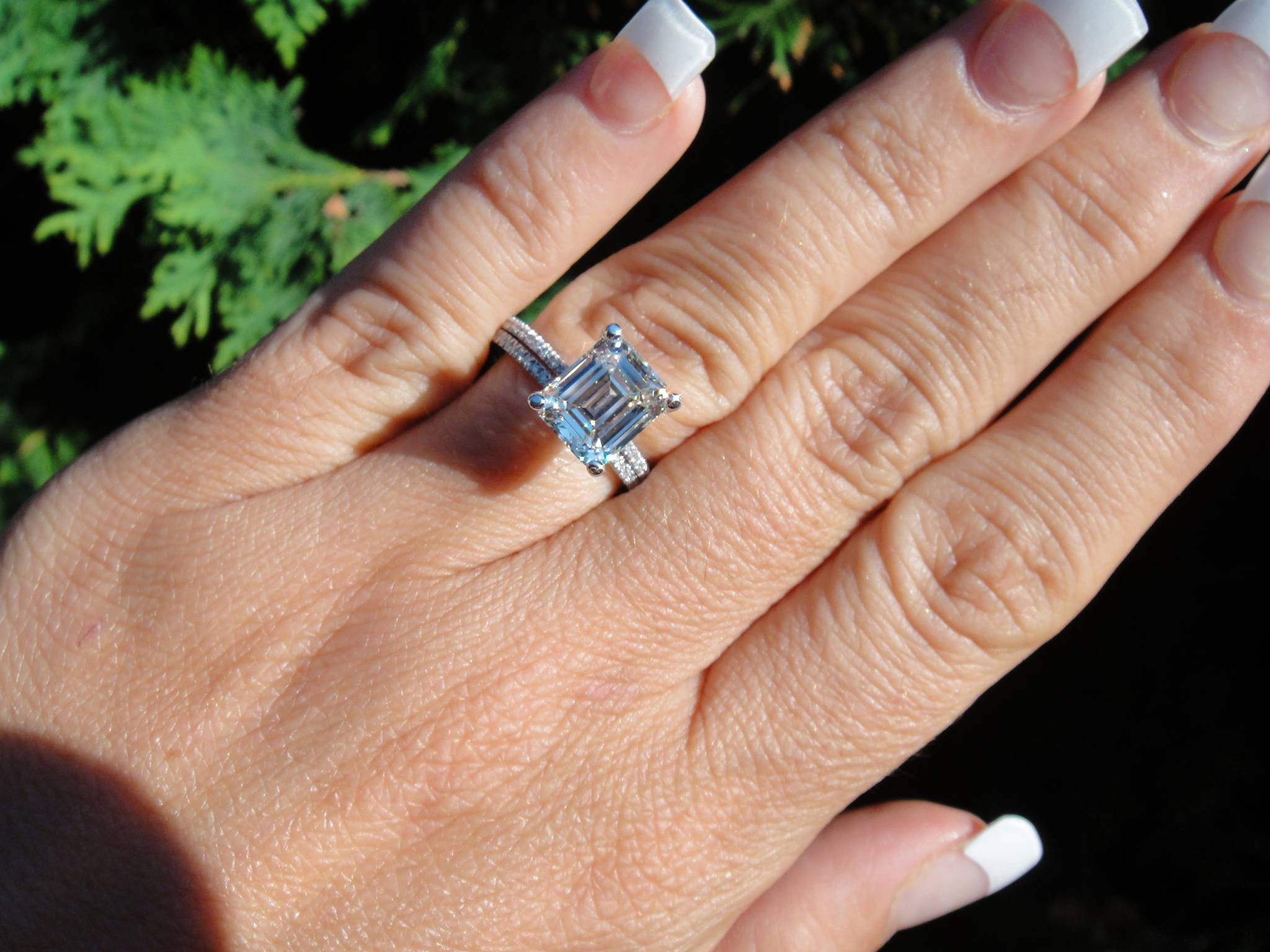Photo Gallery of 25 Ct Princess Cut Diamond Engagement Rings
