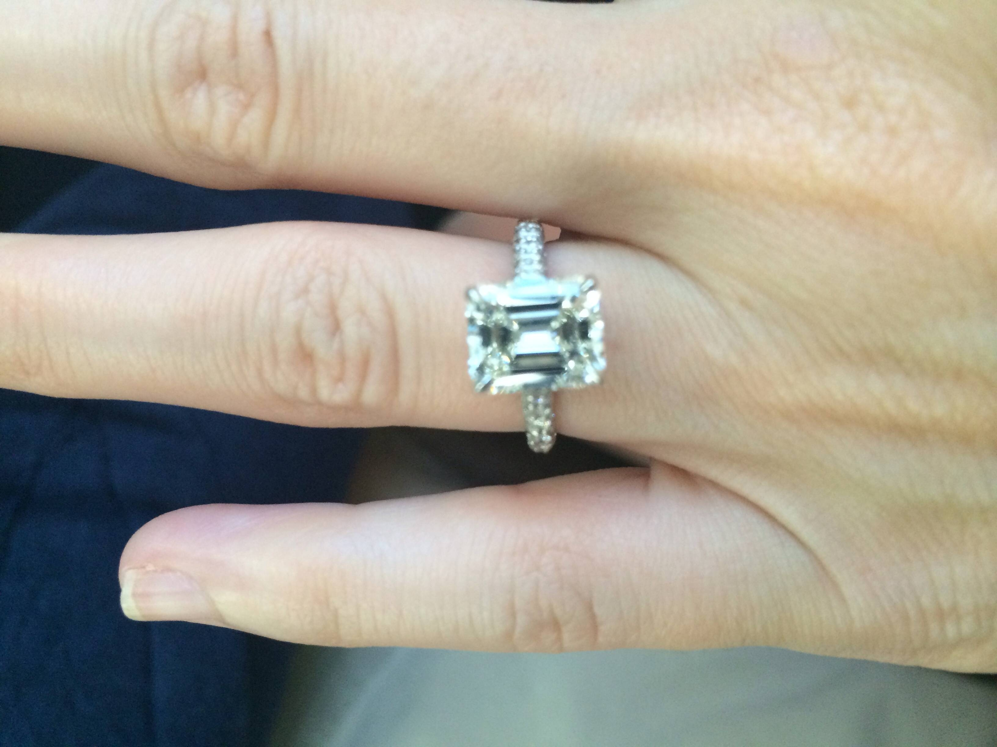 Free Diamond Rings. 3 Carat Emerald Cut Diamond Ring: 3 Carat In 3 Ct Emerald Cut Engagement Rings (Gallery 3 of 15)