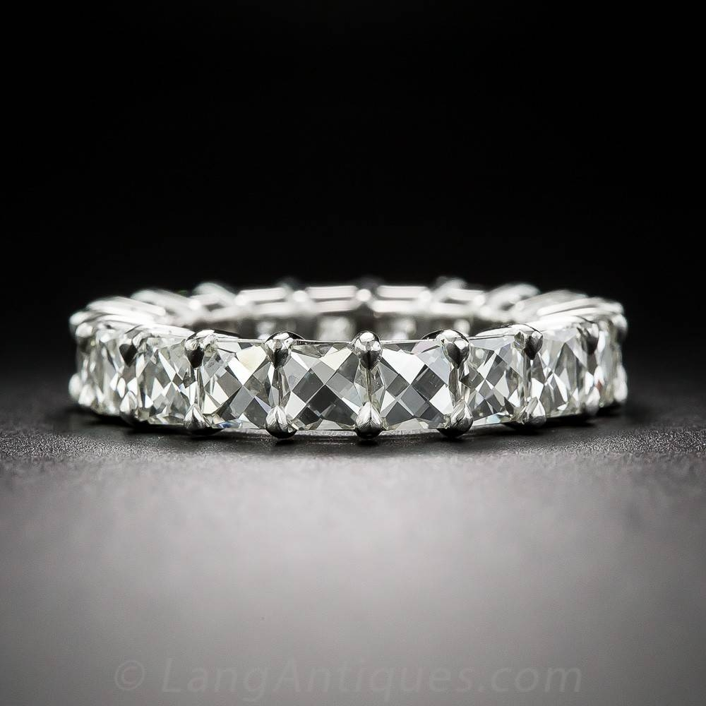 French Cut Diamond And Platinum Wedding Band Inside Current French Wedding Bands (View 10 of 15)