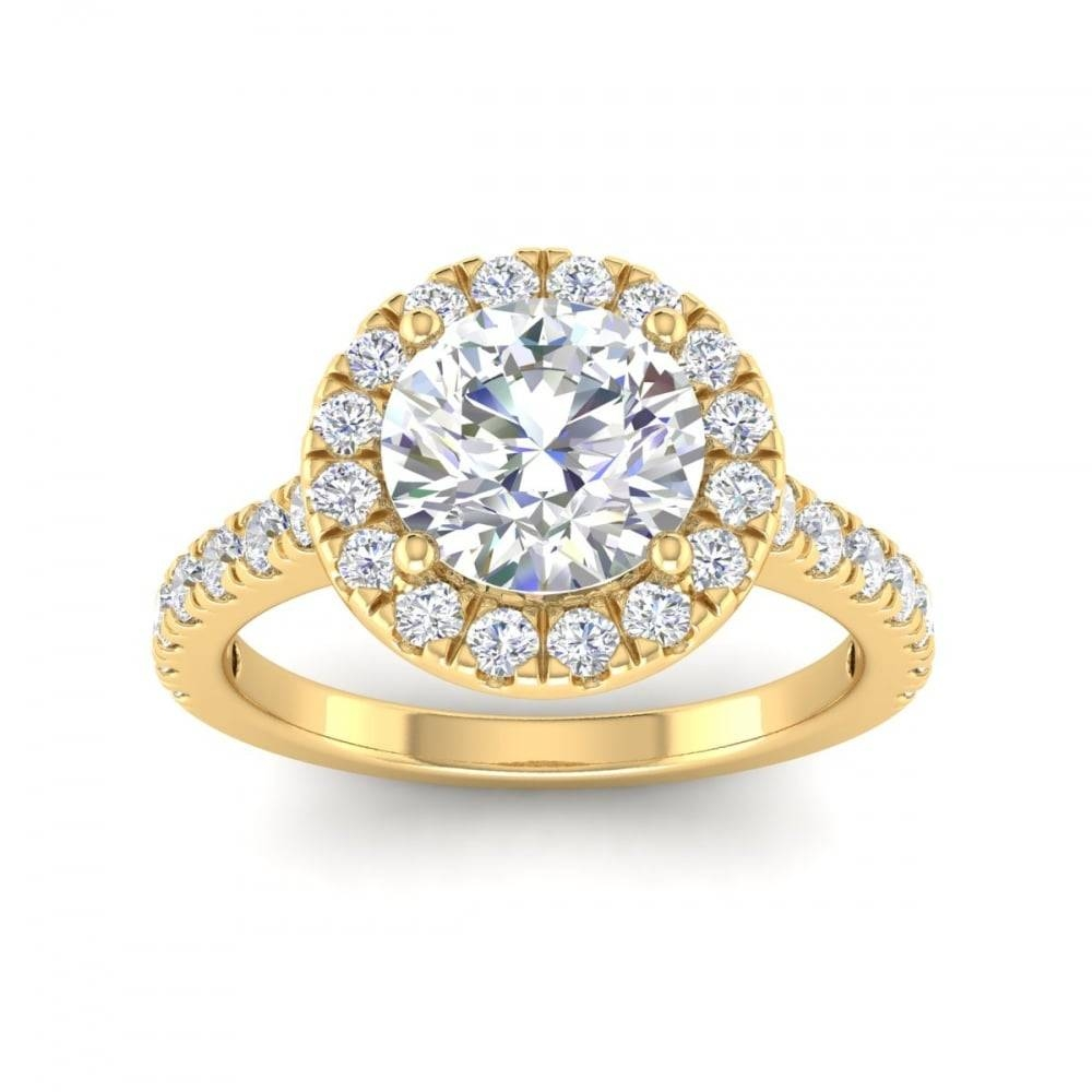 Frost Of London 18Ct Yellow Gold 1.20Ct G Si1 Round Brilliant Throughout London Gold Engagement Rings (Gallery 5 of 15)