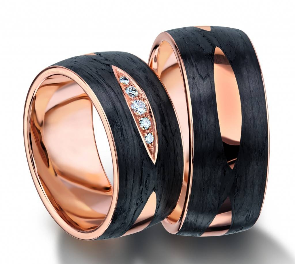 Furrer Jacot Unique Swiss Made Carbon Fiber Rings Collection With Carbon Wedding Bands (Gallery 2 of 15)