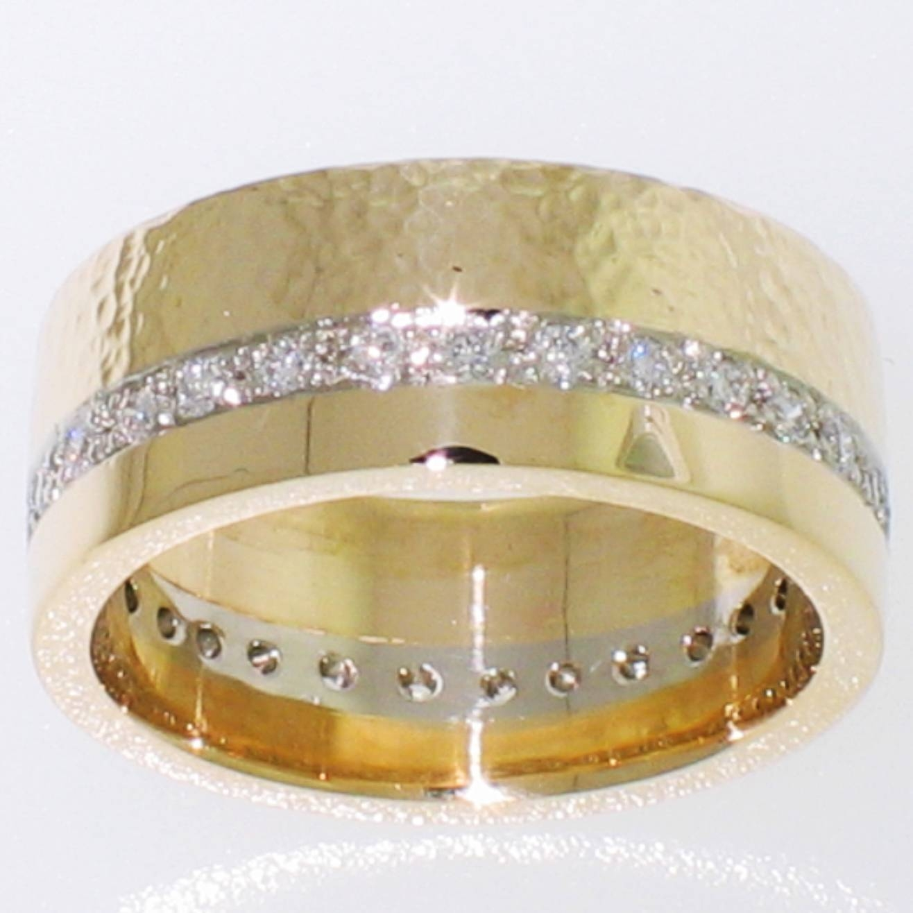 Gems Fine Art Jewelry Gold Platinum Diamond Rings Necklaces Throughout 14 Karat Gold Wedding Bands (View 8 of 15)