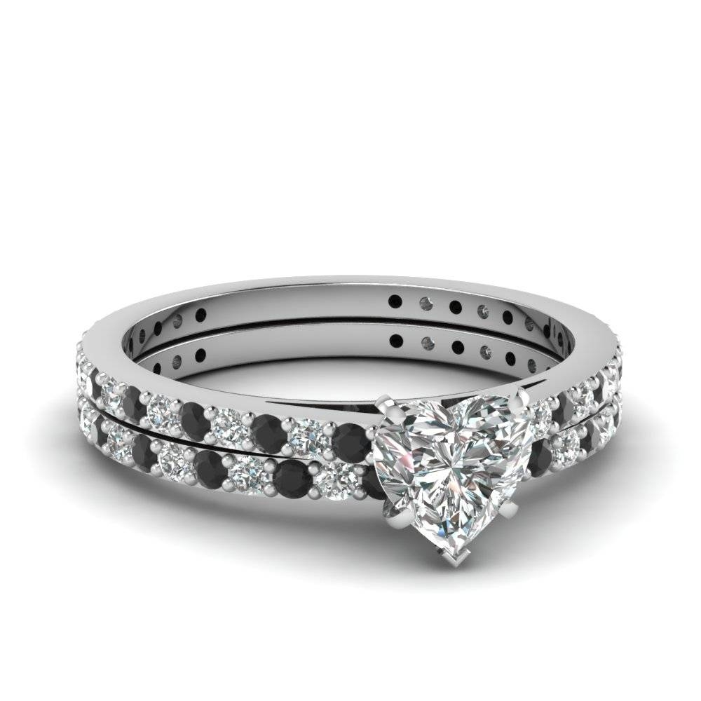 Glamour And Cheap Black Diamond Wedding Ring Sets For Great Throughout White Gold Diamond Wedding Ring Sets (View 5 of 15)