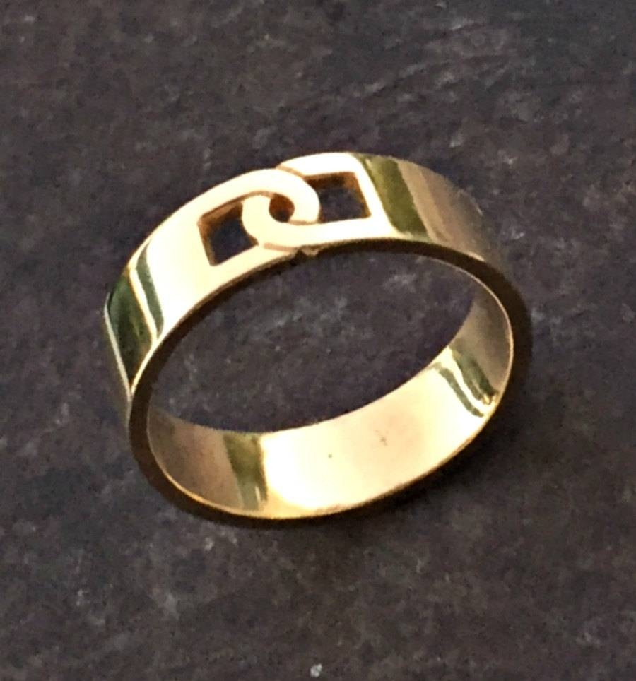 Gold Band Men Gold Ring Mens Wedding Band Mens Engagement With Regard To Wedding Rings For Men Gold (View 5 of 15)