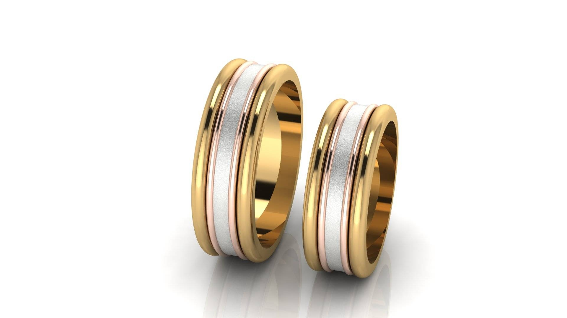 Gold Band Tags : Milgrain Wedding Band Ring Yellow Gold Wedding With White And Yellow Gold Wedding Bands (View 6 of 15)