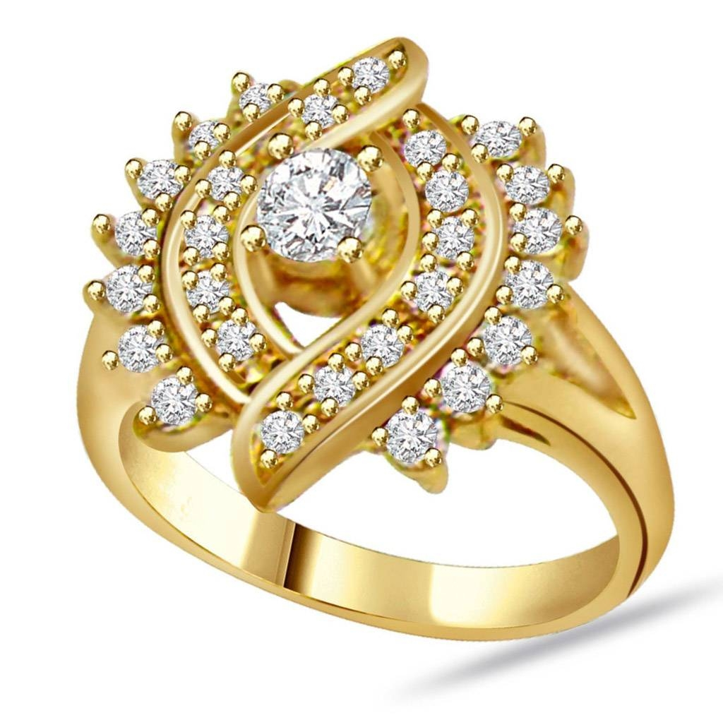 Gold Diamond Rings For Women Diamond Wedding Rings For Women A Intended For Gold Wedding Rings For Women (View 7 of 15)