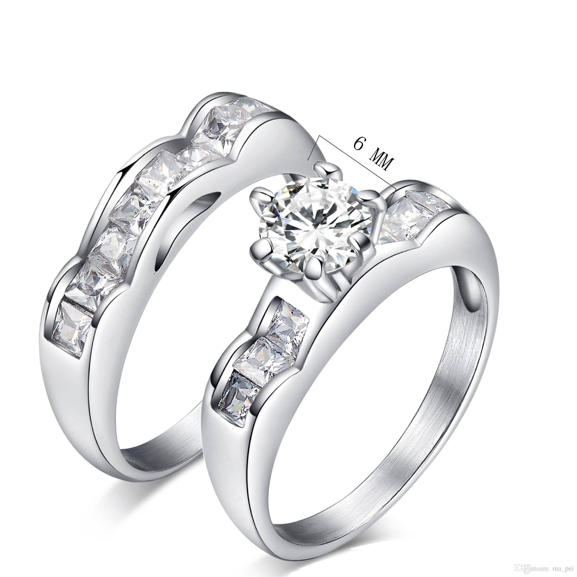 Gold Wedding Ring Sets His And Hers Tags : Wedding Rings Diamonds In Two Piece Wedding Rings (View 8 of 15)