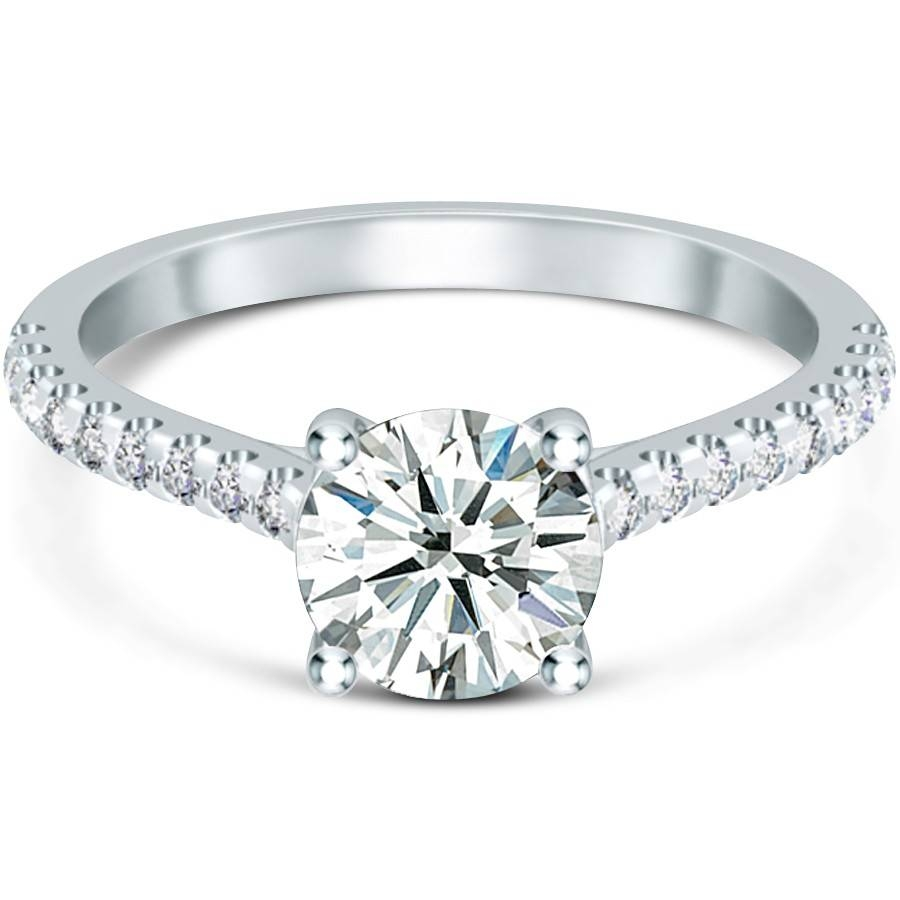 Gold Wedding Rings: Engagement Rings With Side Diamonds With Regard To Engagement Rings With Side Diamonds (View 3 of 15)