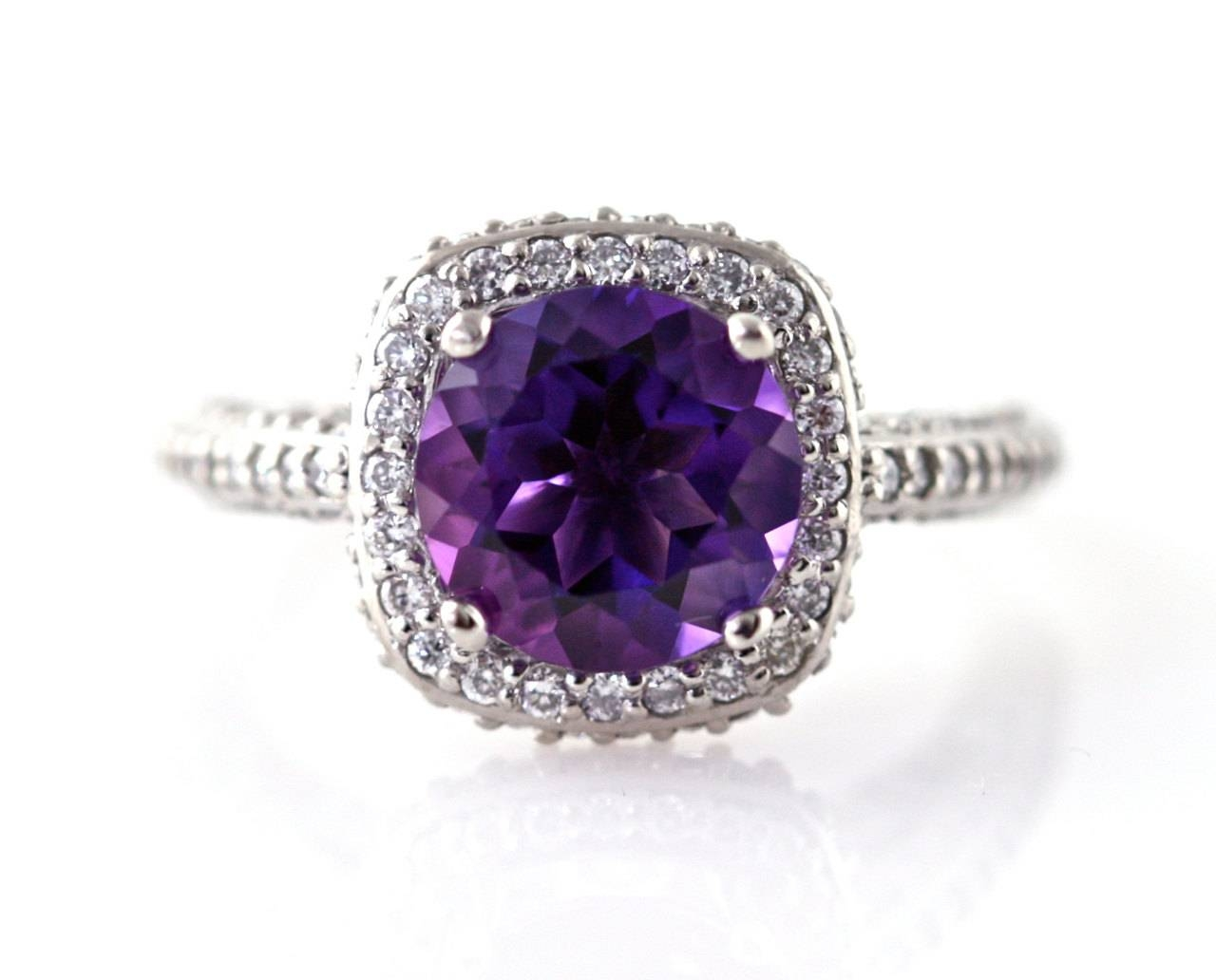Gorgeous Amethyst Engagement Rings: Why You Should Consider Them! For Wedding Rings With Amethyst (View 8 of 15)