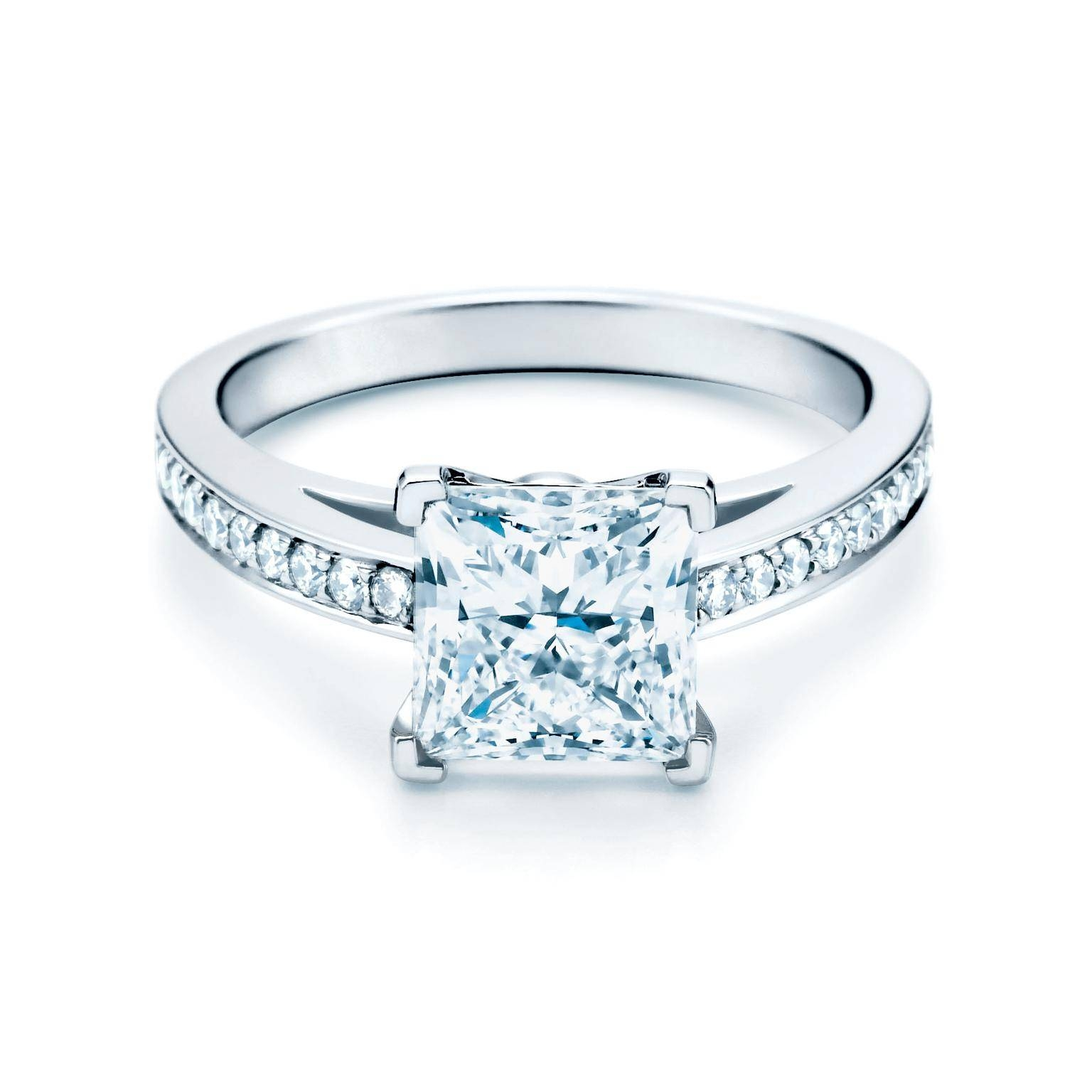 Grace Princess Cut Diamond Engagement Ring | Tiffany & Co (View 7 of 15)