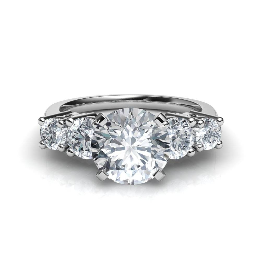 Featured Photo of Five Diamond Engagement Ring