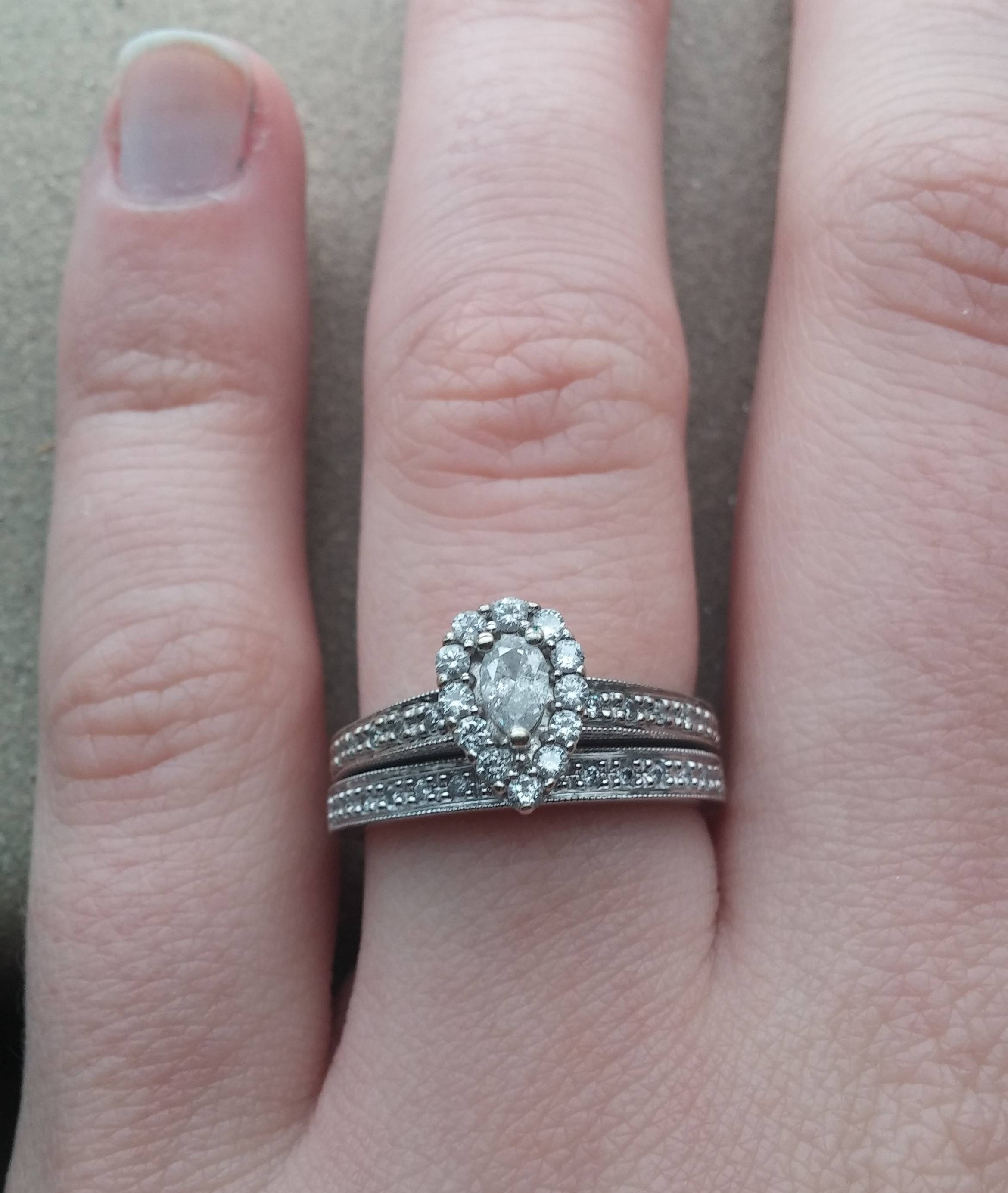 Halo Engagement Ring, Finger Size 6 8, With Petite Center Diamond Regarding Small Size Engagement Rings (View 8 of 15)
