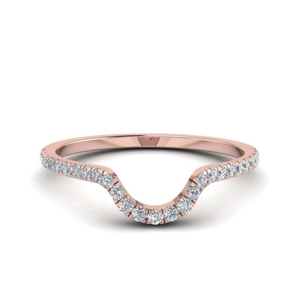 Halo Pear Diamond Engagement Ring In Rose Gold Within Delicate Diamond Wedding Bands (Gallery 11 of 15)