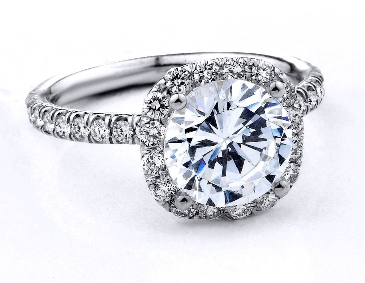 Halo Round Diamond Engagement Rings Hd |Ring | Diamantbilds Within Round Cushion Cut Diamond Engagement Rings (Gallery 5 of 15)